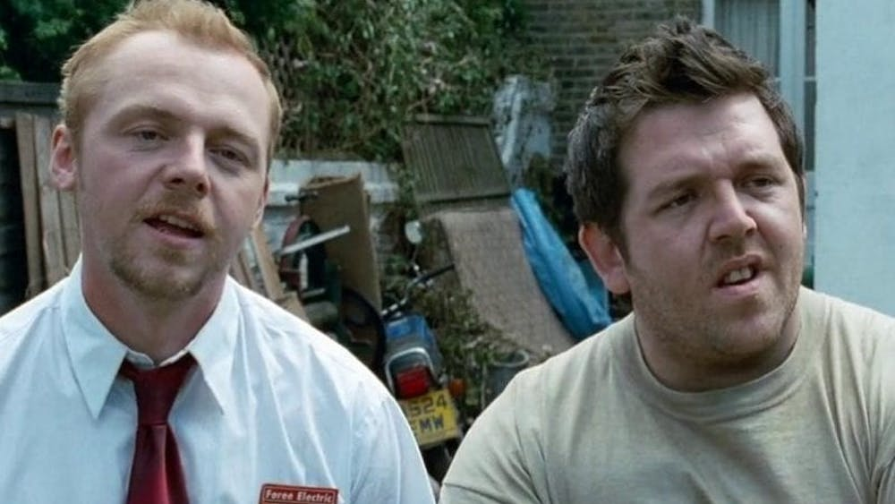 """In """"Shaun of the Dead,"""" Shaun (Simon Pegg) and Ed (Nick Frost) find themselves in the middle of a zombie apocalypse."""