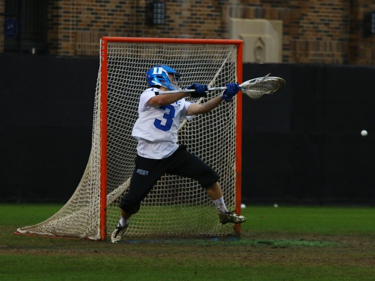 Goalkeeper Danny Fowler posted a season-high 17 saves Sunday in Duke's 14-8 loss to Syracuse.