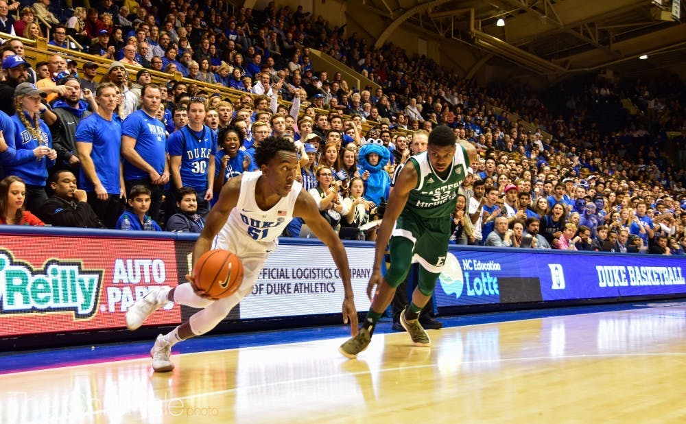 <p>Buckmire will look to score more with his minutes this season, totaling just three points in his career.</p>