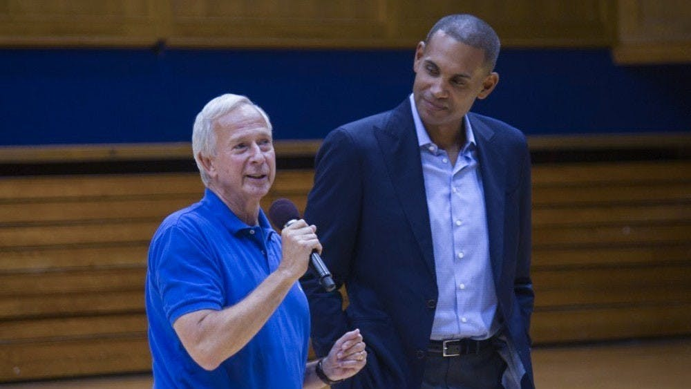 Grant Hill (right), Duke's first Hall of Fame basketball player, discusses what he's learned from his latest project.