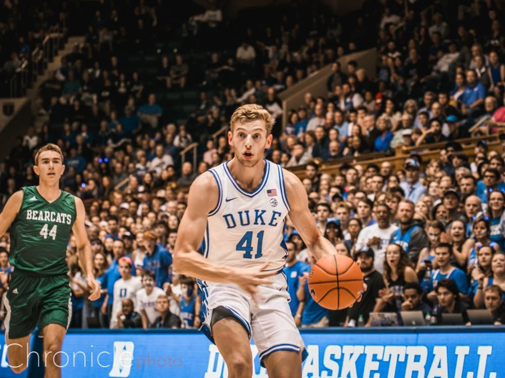 Duke played the Northwest Missouri State University Bearcats at Cameron Indoor Stadium. The Bearcats put on a good show, but the Blue Devils ultimately grabbed the win, the final score being 69-63.