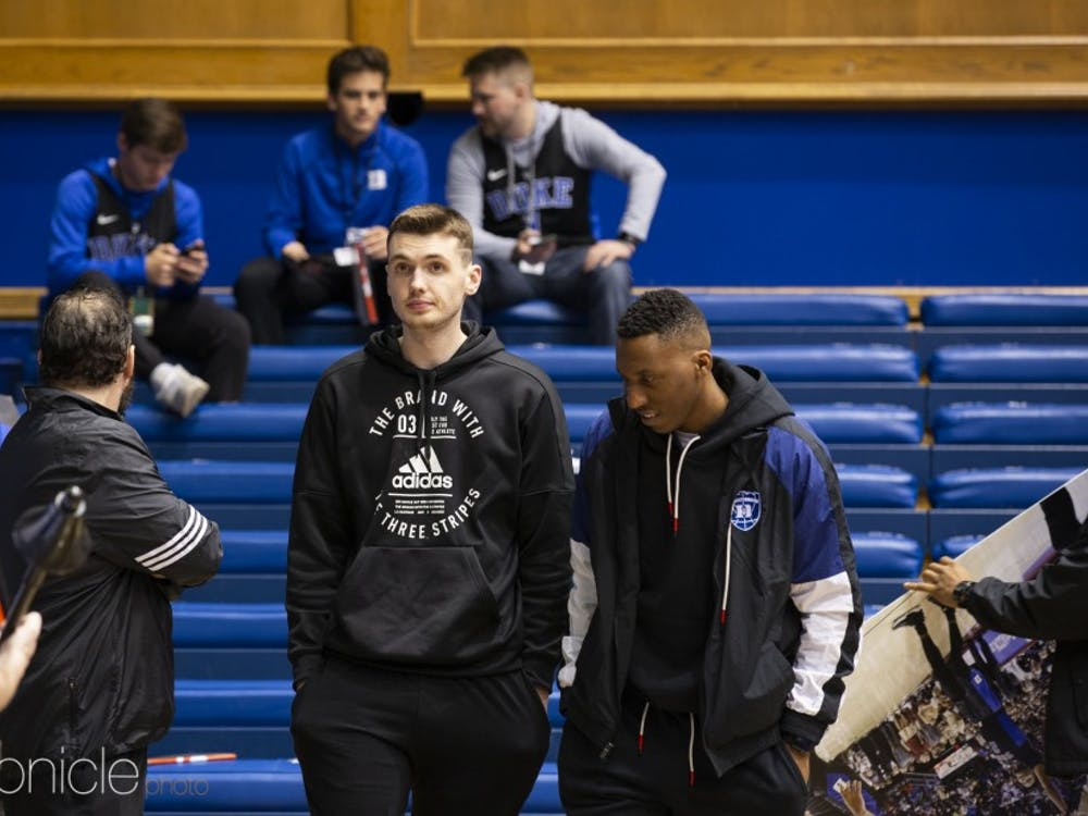Top-recruit Matthew Hurt made an appearance in Cameron Indoor Stadium before Duke's Jan. 19 game against Virginia.
