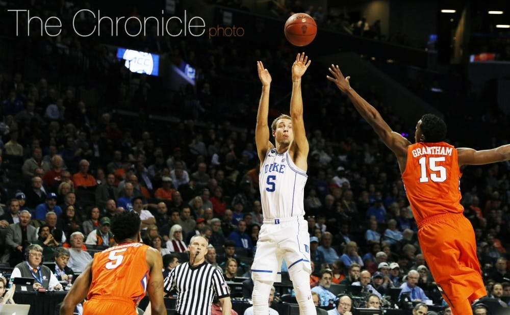 Luke Kennard knocked down several clutch shots in the second half and was one of three Blue Devils to score 20 points in their win against Clemson.