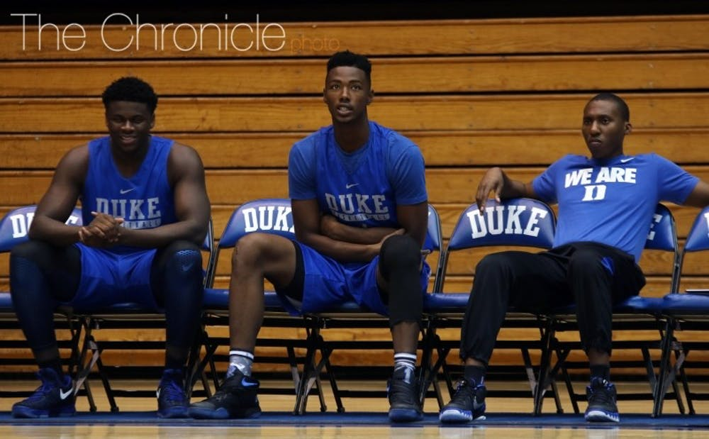<p>Harry Giles sat out of Saturday's open practice and is expected to miss several weeks after undergoing&nbsp;a left knee arthroscopy.</p>