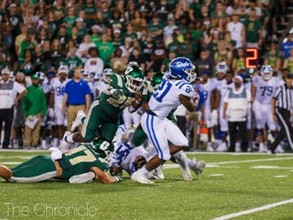 Mataeo Durant rushed for 255 yards in Duke's loss to Charlotte.