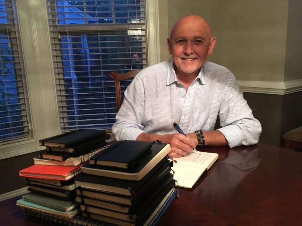 <p>Writing clinician and integrative health coach John Evans hosted one of the Health Humanities Lab's first online expressive writing seminars</p>