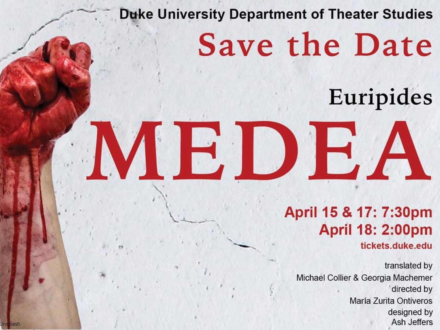 """The combined efforts of both students and faculty, """"Medea"""" promises to be a triumph for Duke Theater Studies."""