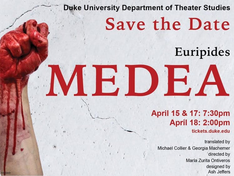 "The combined efforts of both students and faculty, ""Medea"" promises to be a triumph for Duke Theater Studies."
