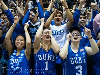 The Cameron Crazies waited out for tickets Sunday night to get a seat for Friday's Countdown to Craziness.