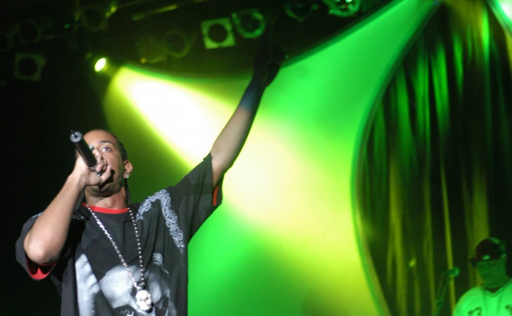 Ludacris performs in Cameron Indoor Stadium, Sept. 24, 2003.