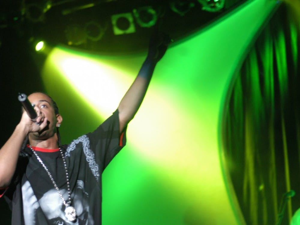 Ludacris performs in Cameron Indoor Stadium, Sept. 24, 2003.