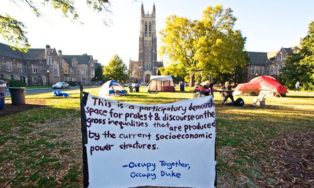 Not only is Occupy Duke one of the few Occupy movements on a college campus, Occupy Duke does not associate with Occupy Durham.