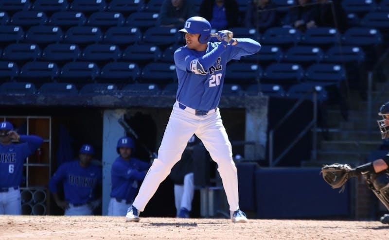 Matt Mervis' four-RBI performance Sunday helped Duke avoid a sweep.