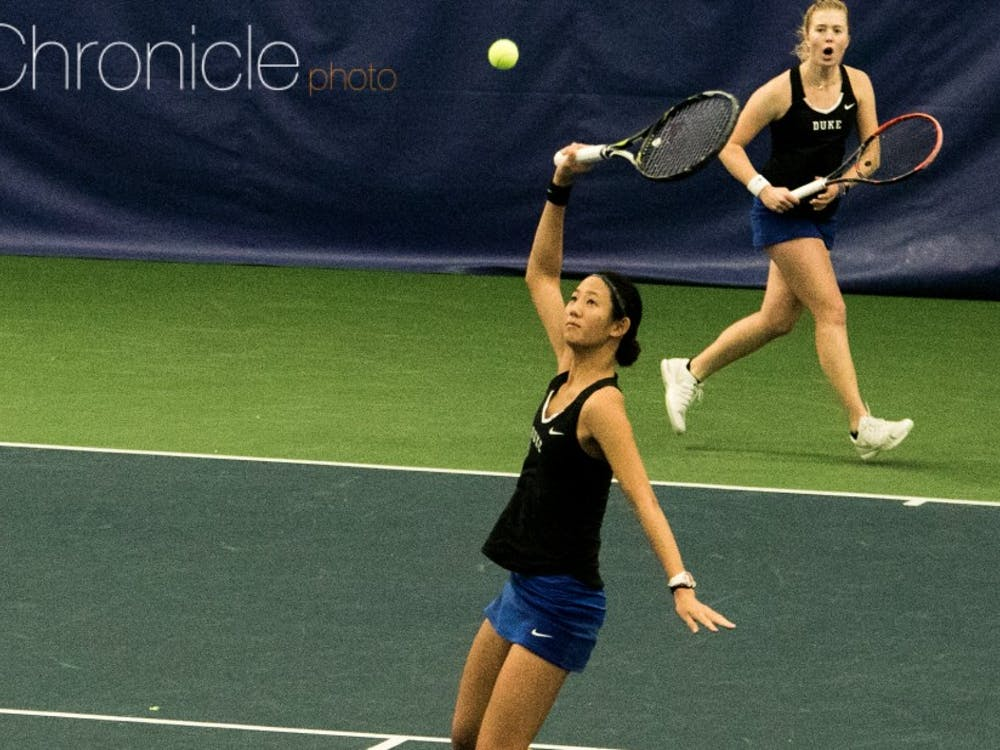 Despite losing the doubles point, the Blue Devils regrouped and overcame a3-1 deficit to earn a hard-fought win.