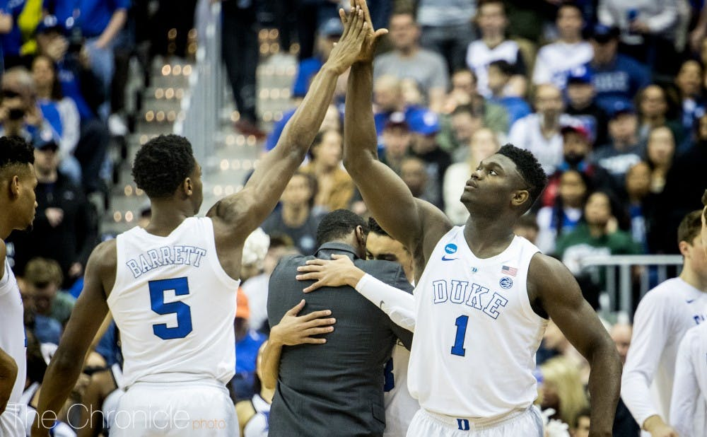 <p>Zion Williamson and R.J. Barrett will likely end up in New Orleans and New York, respectively.</p>
