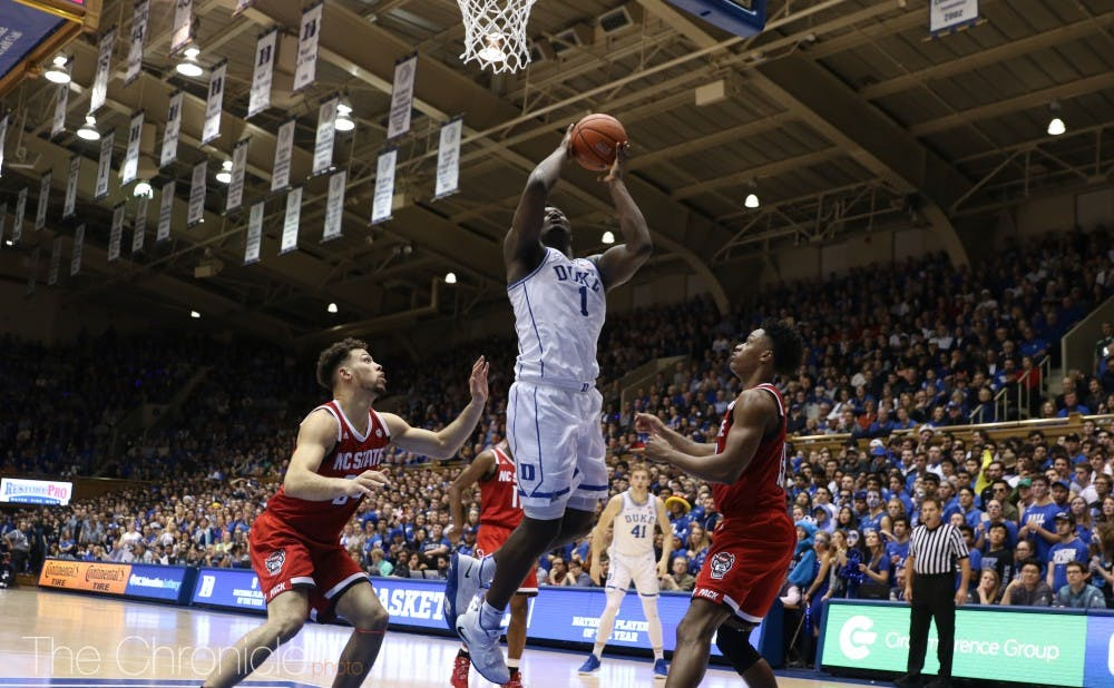 <p>Zion Williamson will not play Saturday night after suffering a right knee sprain earlier this week vs. North Carolina.</p>