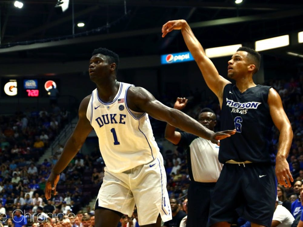 """Zion Williamson was """"contained"""" by the Aztecs Monday afternoon with 13 points and six rebounds."""