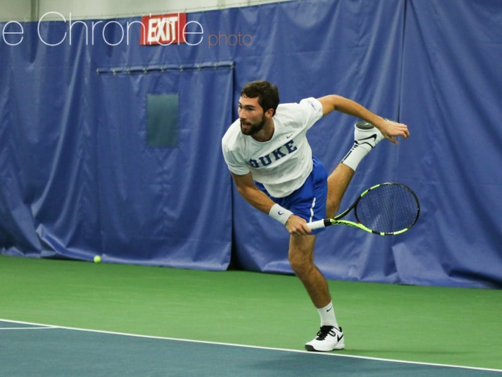 Sophomore Catalin Mateas and company have gotten extra repetitions outside thanks to the good weather in Durham this weather, which could help the team during its outdoor season.