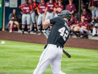 Erikson Nichols had the walkoff hit Sunday to complete the series sweep of Virginia Tech.