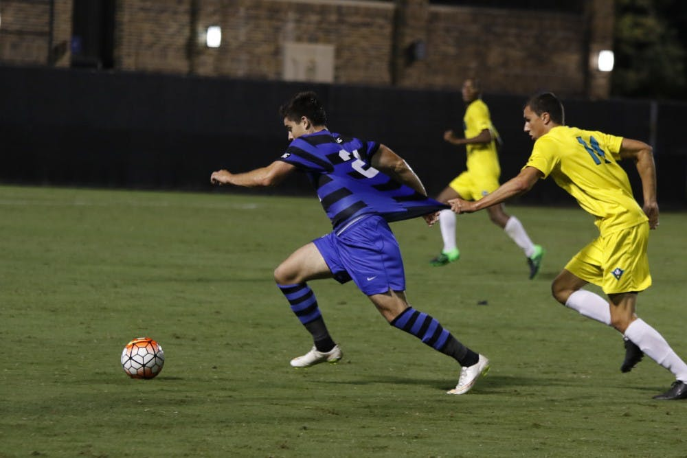 <p>Sophomore Brian White found the back of the net in the second half to even the score, but Clemson answered right back and held on for a 2-1 win Friday night to deny Duke an upset win in its road debut.</p>