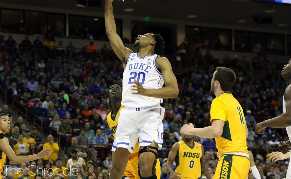 <p>Marques Bolden returned to the court faster than many originally expected, missing just 13 days and three ACC tournament games.</p>