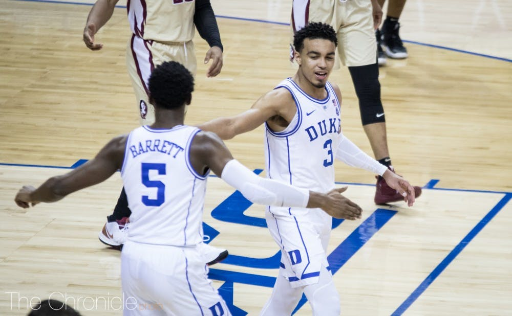 Tre Jones scored a career-high 18 points in Duke's ACC tournament title game win, but his defense was equally key in the Blue Devils' second-half surge.