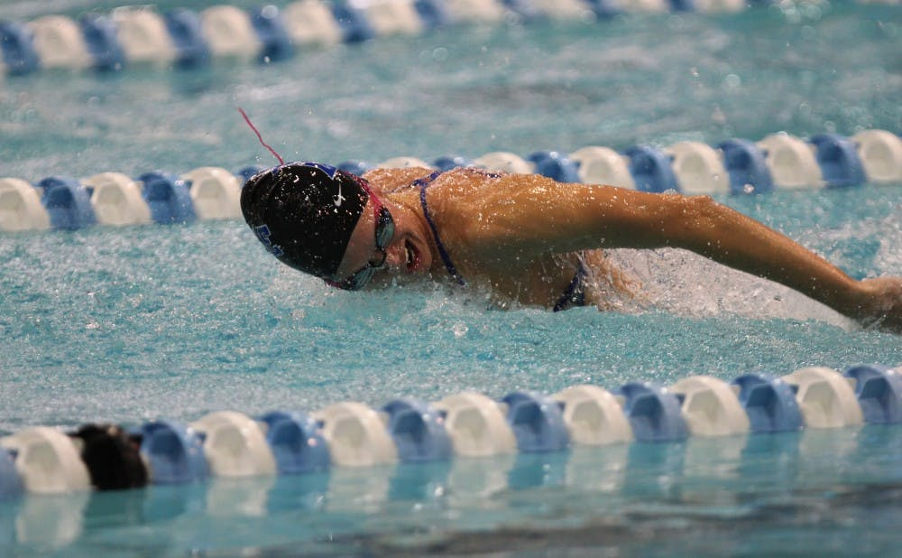 Senior Lauren Weaver led Duke to a comeback victory in the 200-meter medley relay at the All-North Carolina Invitational in Greensboro.