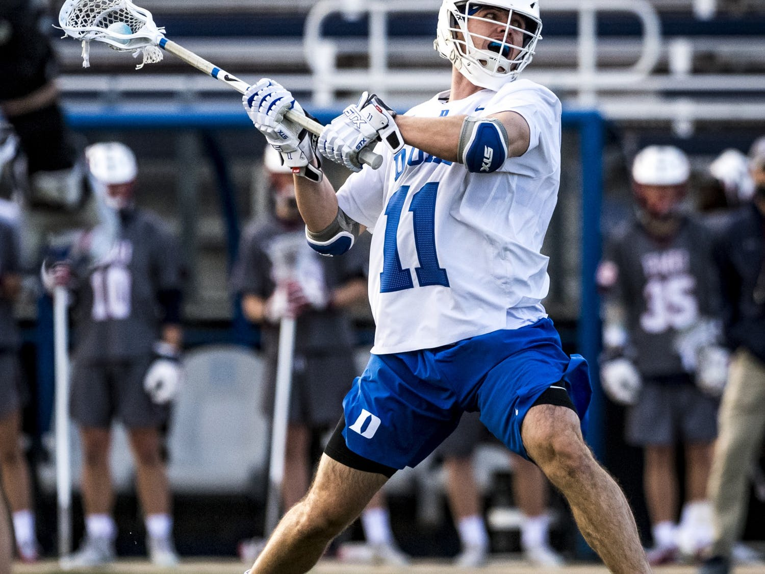 Graduate student Terry Lindsay opened up the scoring for the Blue Devils Sunday.