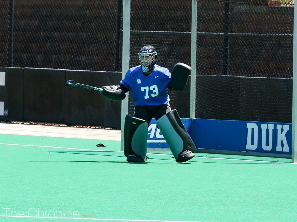 <p>Sammi Steele notched four saves against Maryland in Duke's shoutout of the Terrapins.</p>