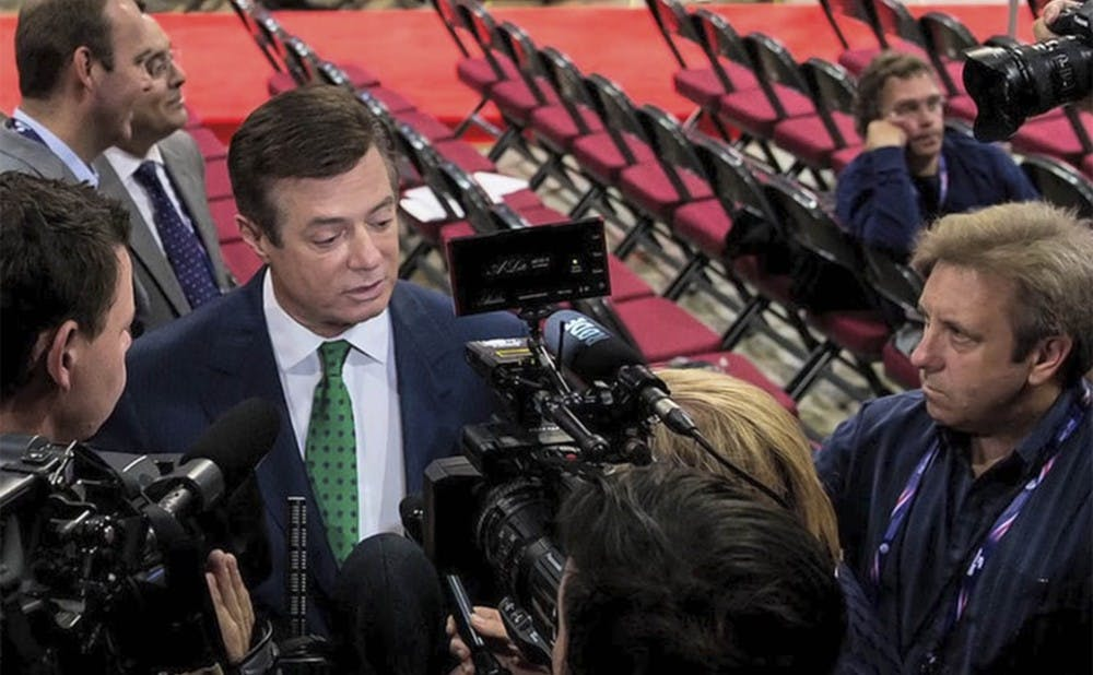 <p>Trump's former campaign manager Paul Manafort worked with a Russian billionaire to influence politics and business dealings in the U.S., according to the Associated Press.</p>