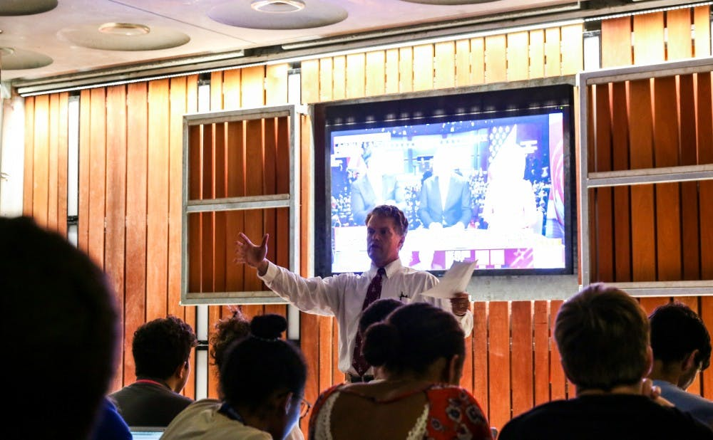 <p>More than 100 students attended a watch party at the Devil's Krafthouse for the first presidential debate Monday night.&nbsp;</p>