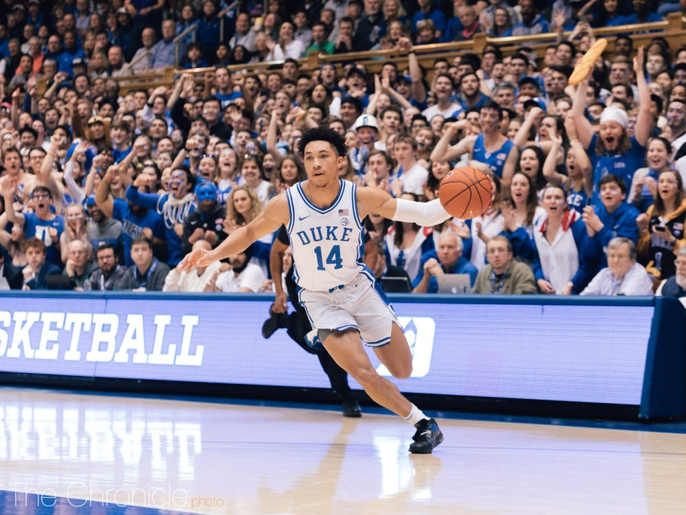 Jordan Goldwire was the offensive spark plug for Duke in the first half.