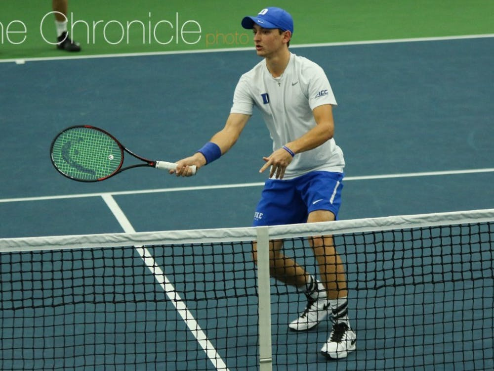 Nick Stachowiak and the Blue Devils earned their first sweeps of the season Sunday.