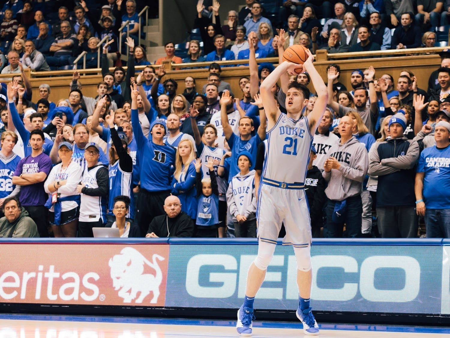 It was a year without fans in Cameron Indoor Stadium for Duke, so the ACC tournament marked the first time the Blue Devils got to play in front of a pro-Duke crowd all season.