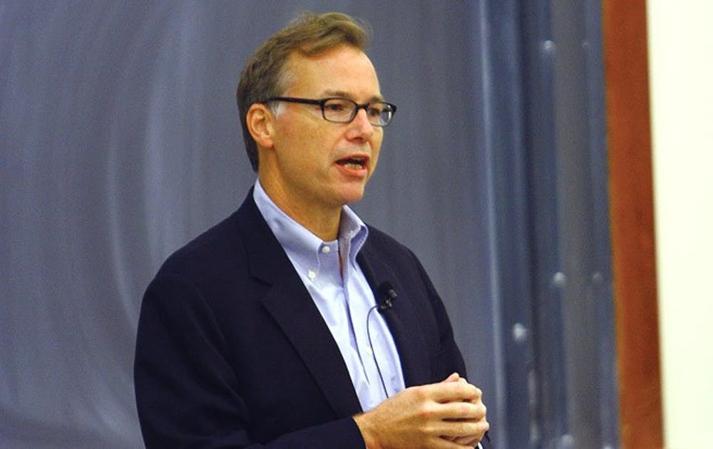 Pulitzer Prize-winning journalist Steve Coll spoke about corporate responsibility Monday at the Sanford School of Public Policy.