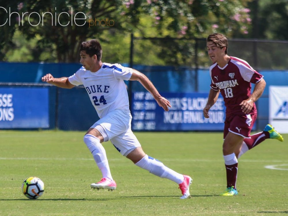Senior Brian White scored his first two goals of the year Sunday, including a long strike to the top left corner of the net in the final 10 minutes.