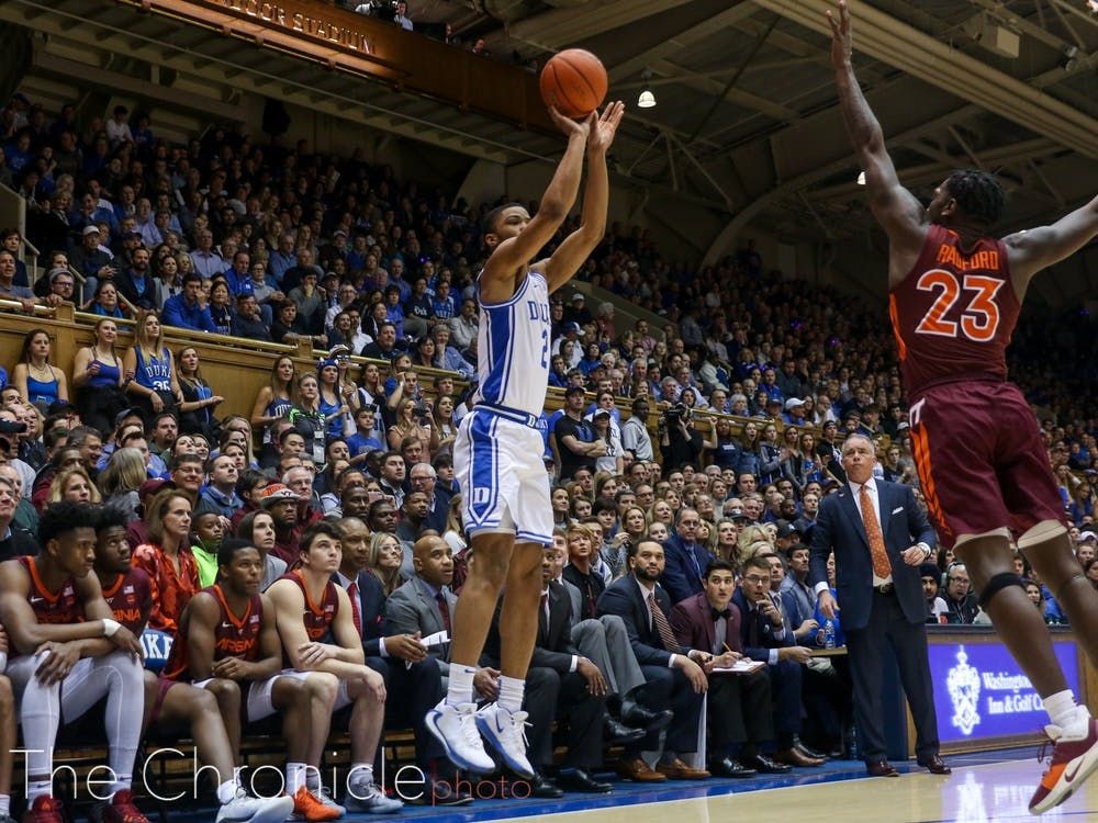 Cassius Stanley was one of many Blue Devils to catch fire from deep Saturday