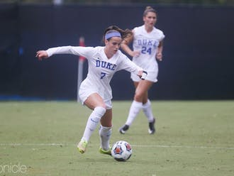 Taylor Racioppi's early goal gave the Blue Devils the edge throughout Sunday's contest.
