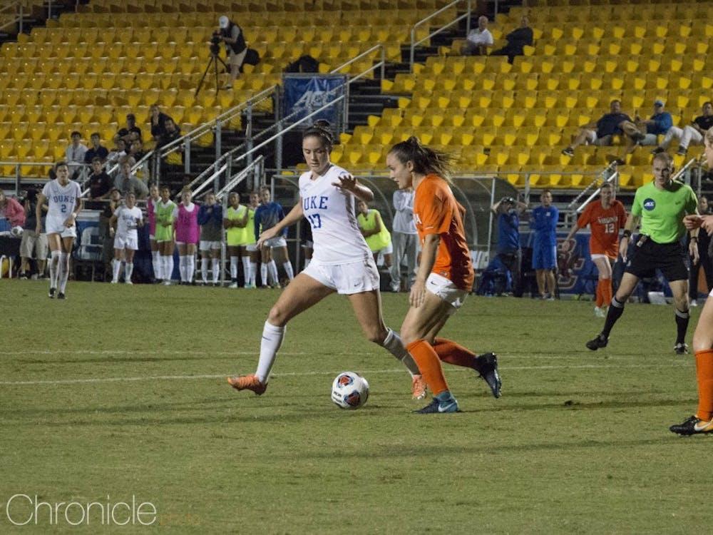 Ella Stevens scored the lone goal in Duke's 1-0 semifinal win.