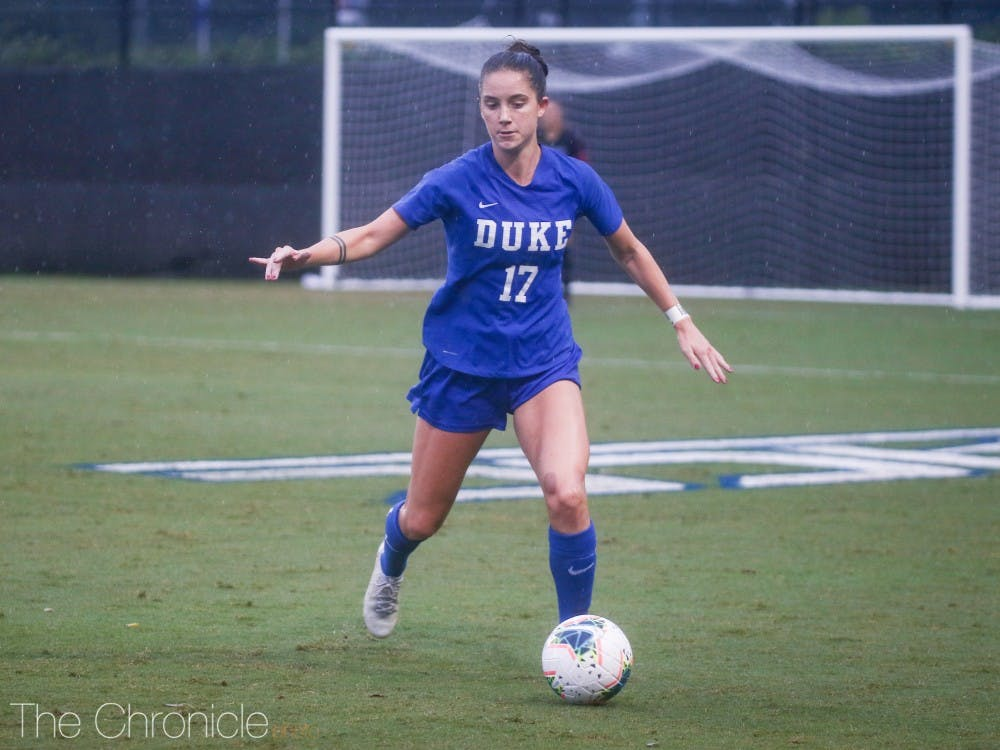 <p>Ella Stevens scored two goals in the first half, catalyzing the scoring run which gave Duke a 6-0 win against LSU.</p>