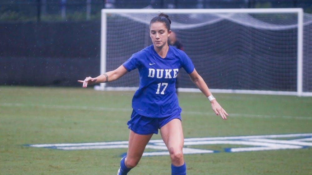 Ella Stevens scored two goals in the first half, catalyzing the scoring run which gave Duke a 6-0 win against LSU.