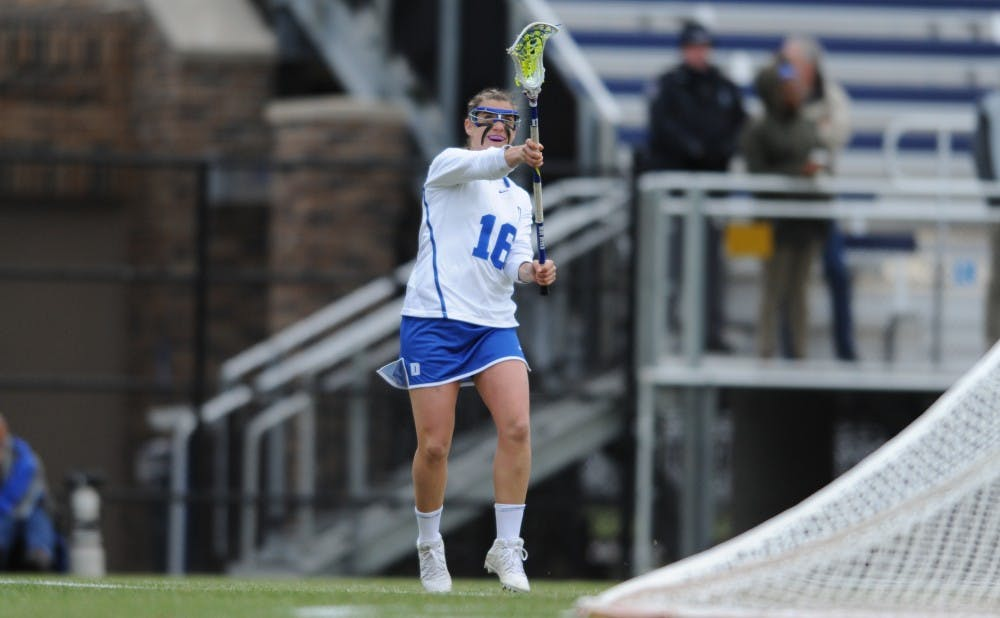 <p>Senior Emma Lazaroff notched a career&nbsp;high-tying two assists in last weekend's win against Villanova and will try to help develop more offensive consistency Saturday against the Cavaliers.</p>
