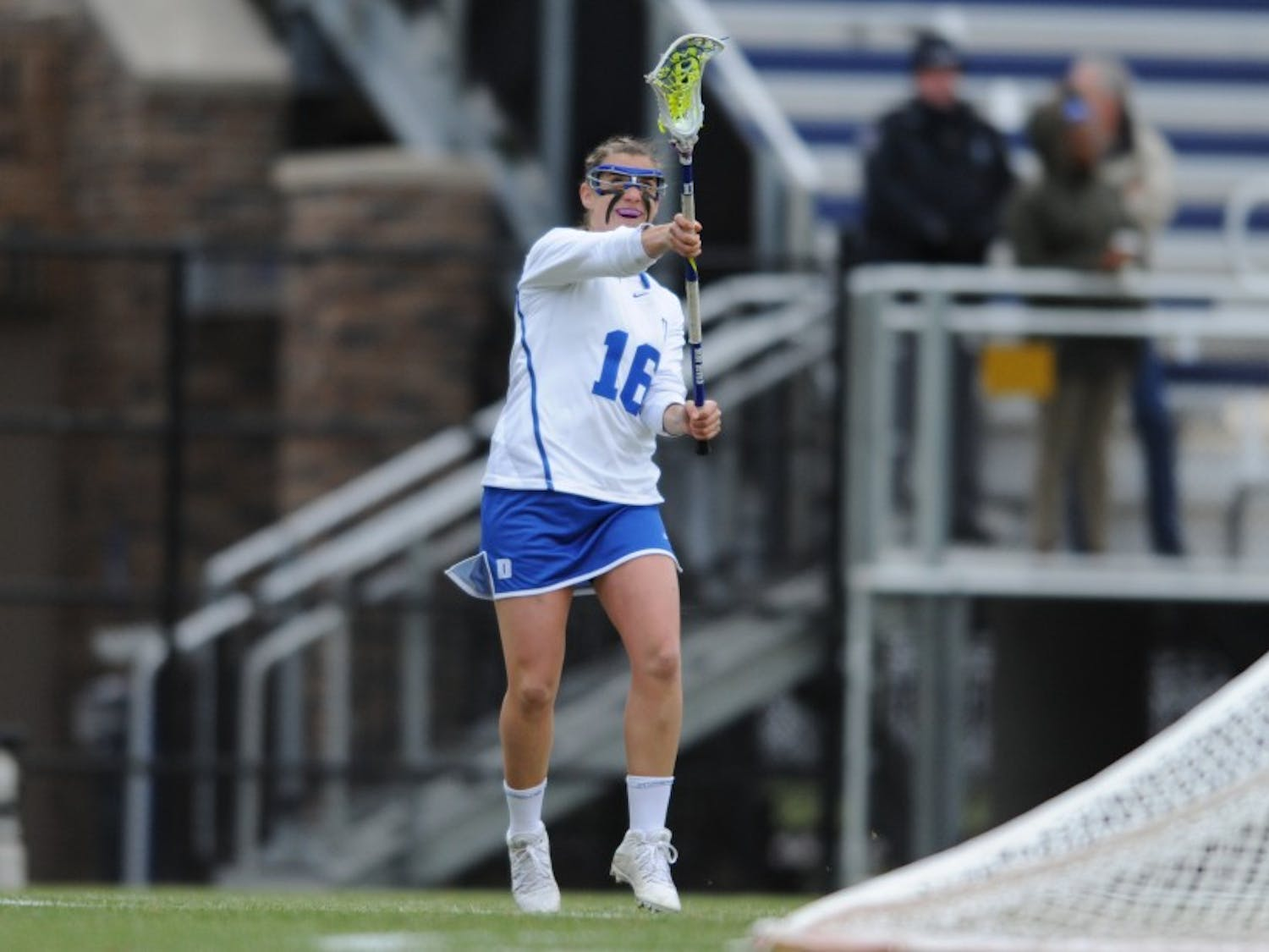 Senior Emma Lazaroff notched a career high-tying two assists in last weekend's win against Villanova and will try to help develop more offensive consistency Saturday against the Cavaliers.