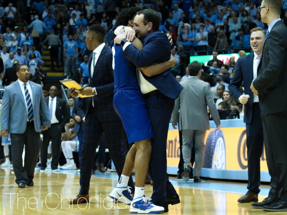 Duke's thrilling win in Chapel Hill was one of the high points of the season.