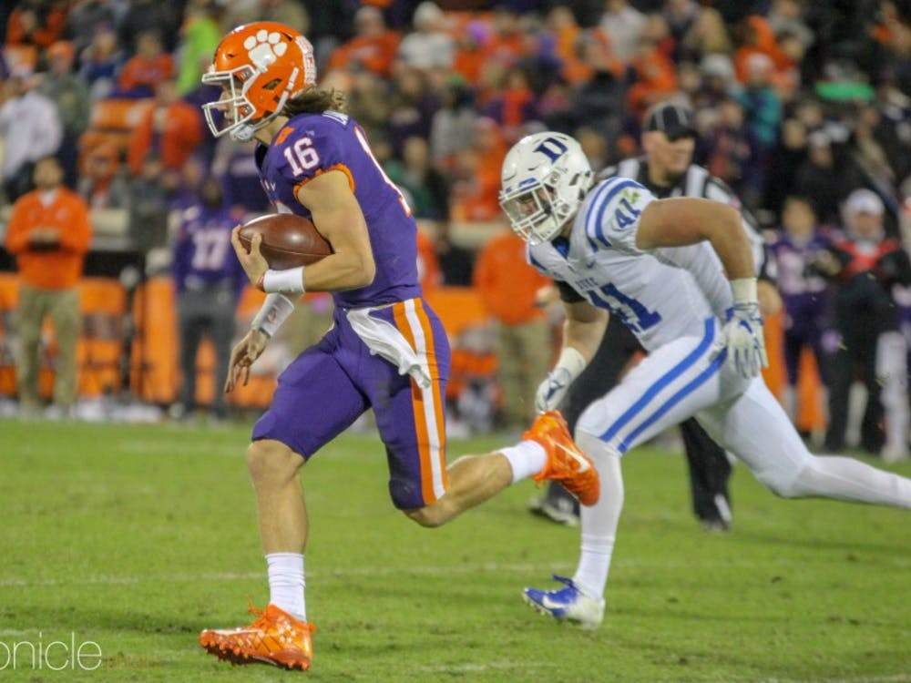 Depleted by injuries, Duke could not stop Clemson's offense in the second half Saturday.