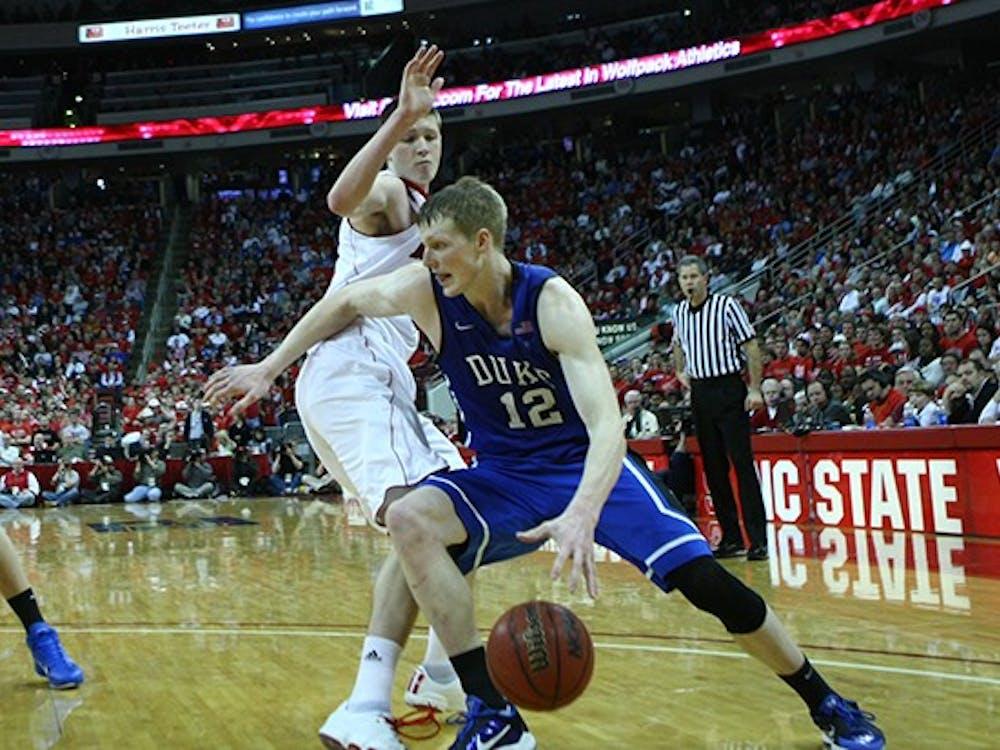 Duke's men's basketball team defeated NC State 92-78 on January 19, 2010.