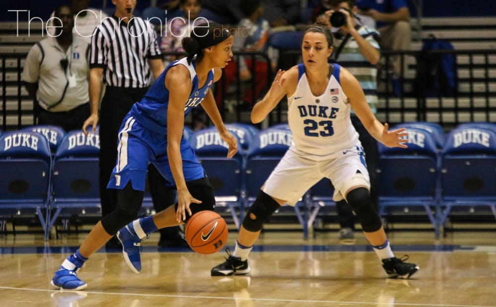 <p>At 6-foot-2, freshman Leaonna Odom can play multiple positions on the court and space the floor as a jump-shooter.&nbsp;</p>
