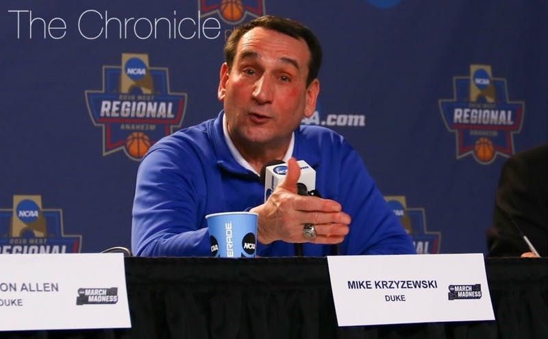 Head coach Mike Krzyzewskihad surgery to repair a hernia more than a month after undergoing successful knee replacement surgery.