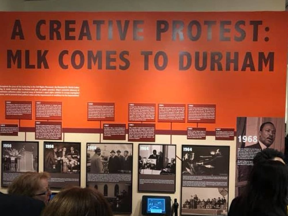 "The Museum of Durham History hosted the grand opening for ""A Creative Protest: MLK Comes to Durham"" last Friday."