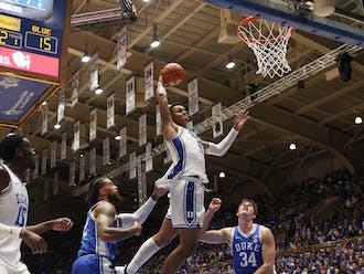 Duke freshman forward Paolo Banchero showed out in Friday's Countdown to Craziness exhibition, including this authoritative slam. Banchero was the fourth-ranked recruit in his high school class.